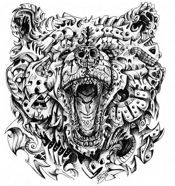 татуировка медведь (2)