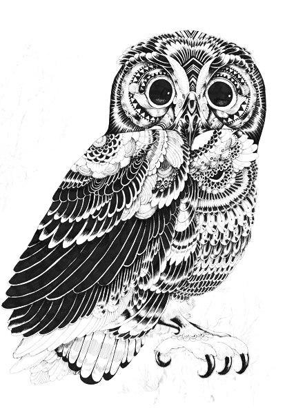 эскизы и значение татуировки совы (2)
