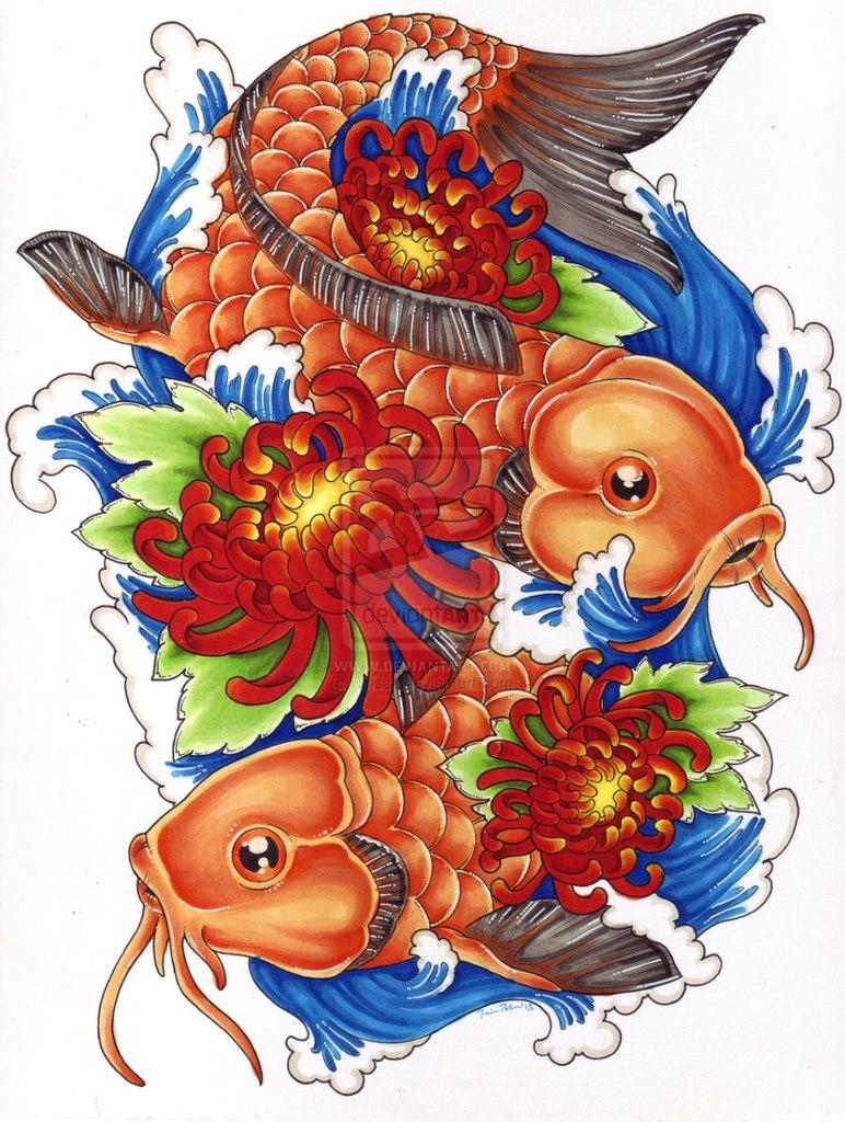 цветные эскизы татуировок (1)