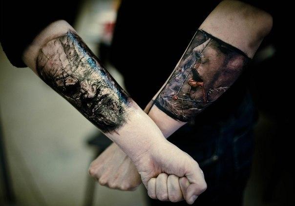 фото татуировок портретов на руках