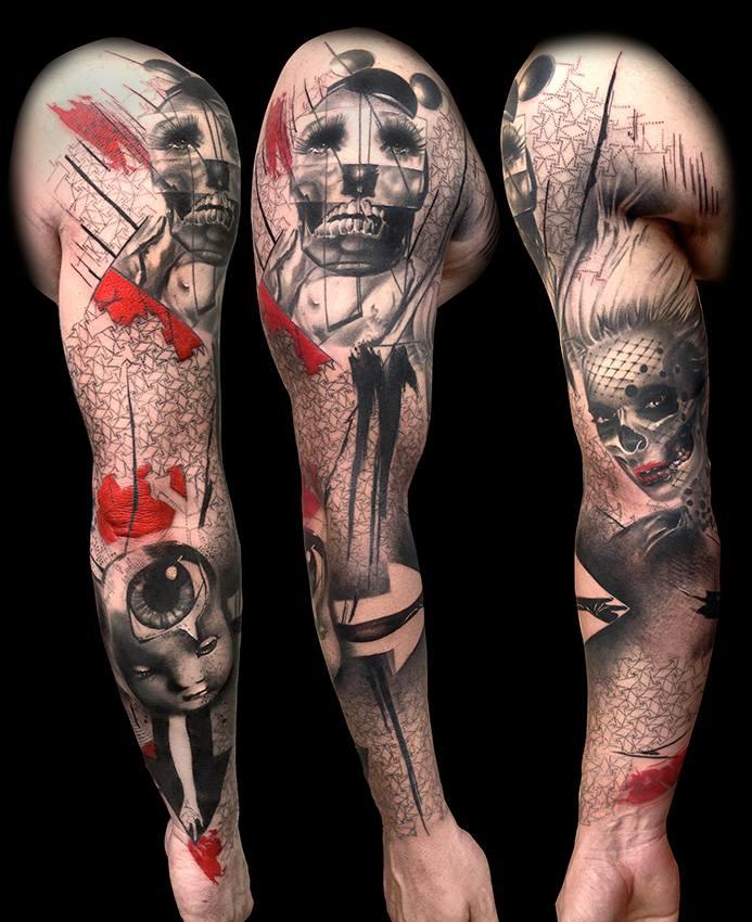 фото татуировки вукава в виде трэш польки