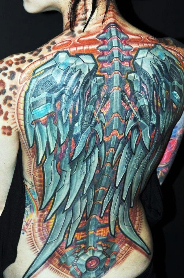 Татуировки биомеханика: эскизы, фото