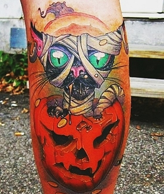 фото татуировок Хэллоуин (1)