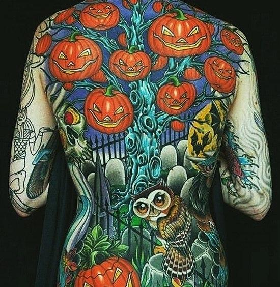 фото татуировок Хэллоуин (2)