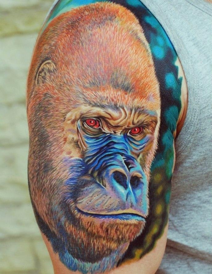 фото татуировки гориллы