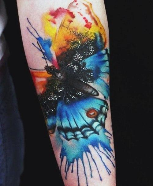 фото татуировки бабочки