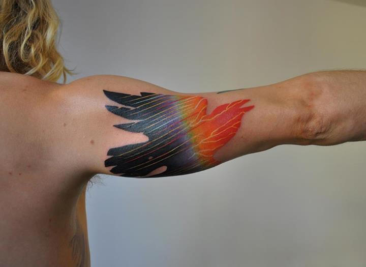 фото татуировки птицы на руке