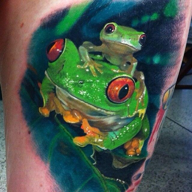 фото татуировки лягушки