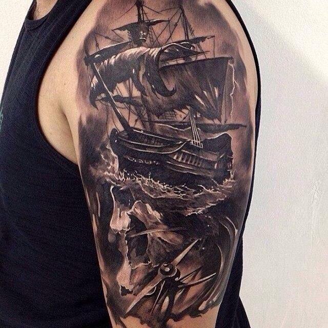 фото татуировки корабль