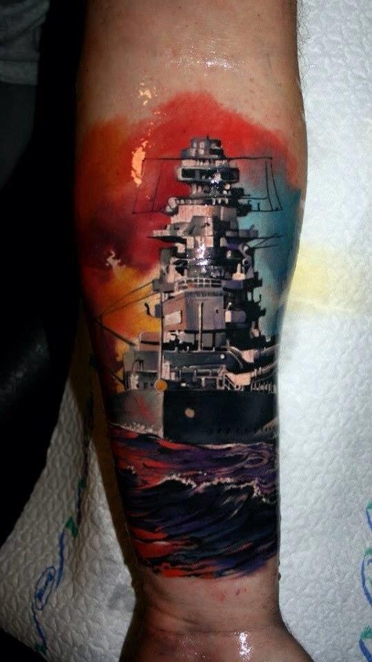 фото татуировки корабля
