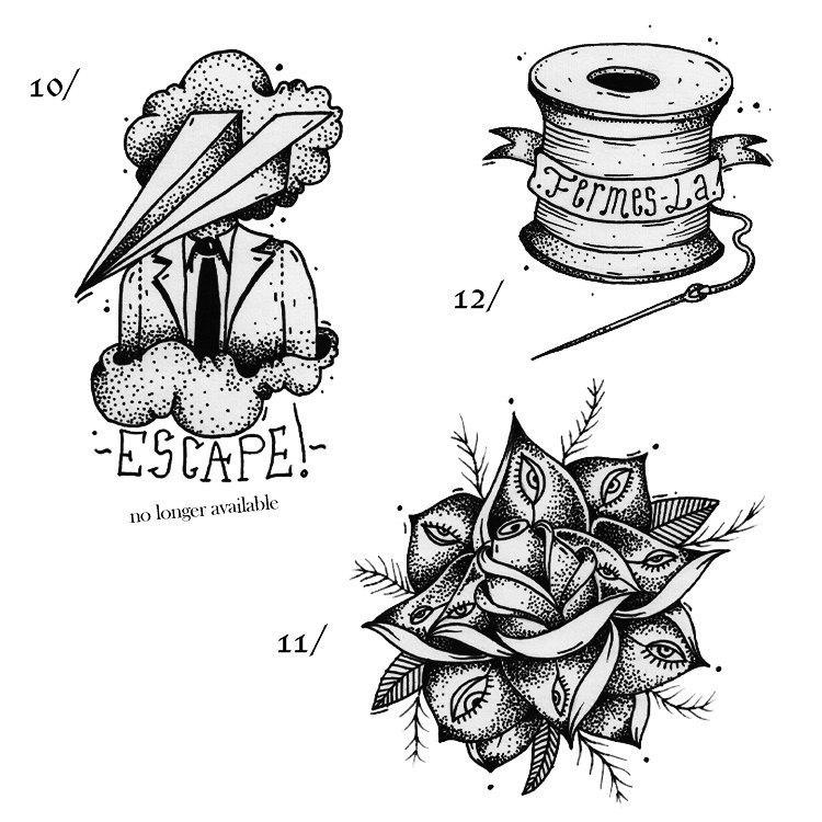 фото черно-белых эскизов татуировок (5)