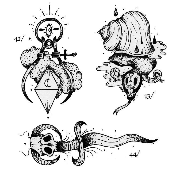 фото черно-белых эскизов татуировок (2)