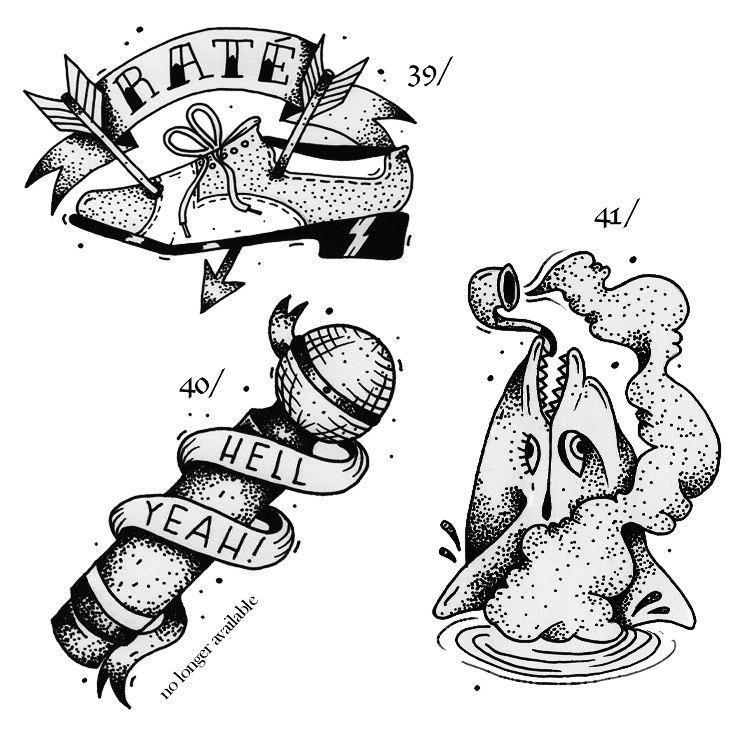 фото черно-белых эскизов татуировок (1)
