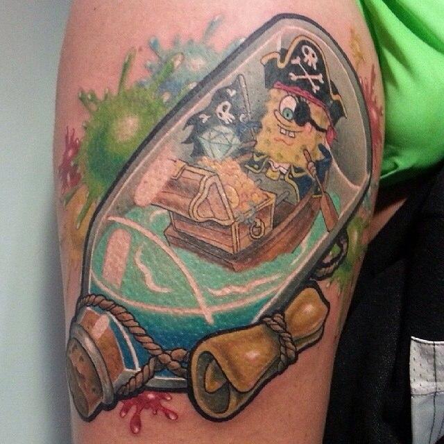 фото татуировки губка боб Спанч