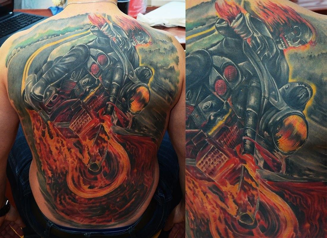 фото татуировки из кино призрачный гонщик