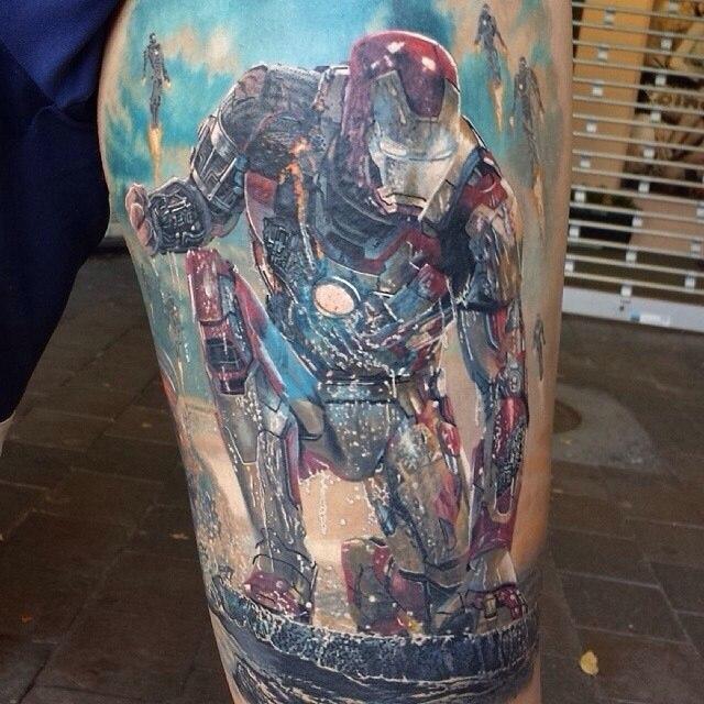 фото татуировки Железный человек