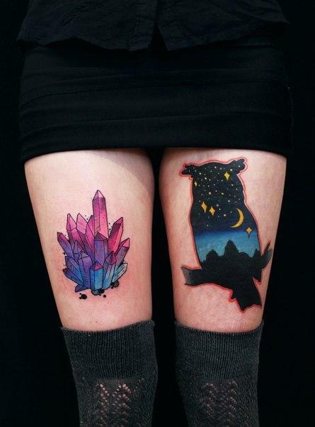 фото татуировок на женских ногах девушки
