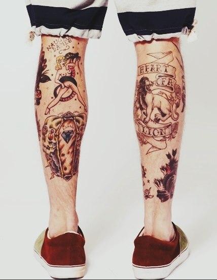 фото татуировки на ногах (2)