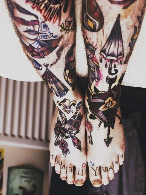 фото татуировки на ногах (5)