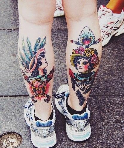 фото татуировки на ногах (6)