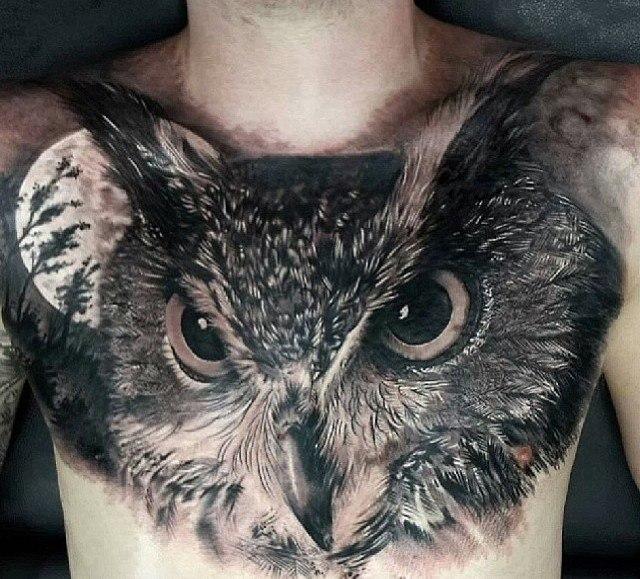 фото татуировки сова (2)