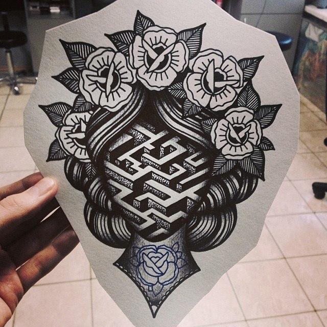 эскиз фото татуировки женщины