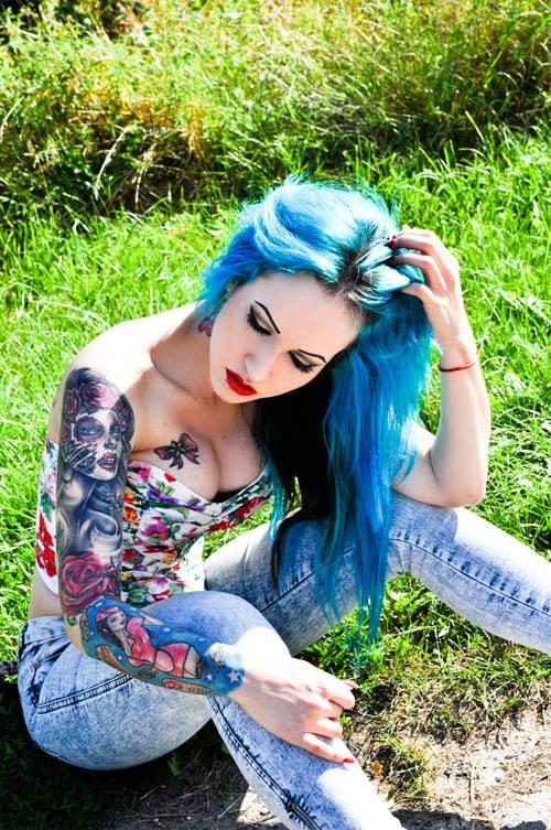 фото цветные женские татуировки (4)