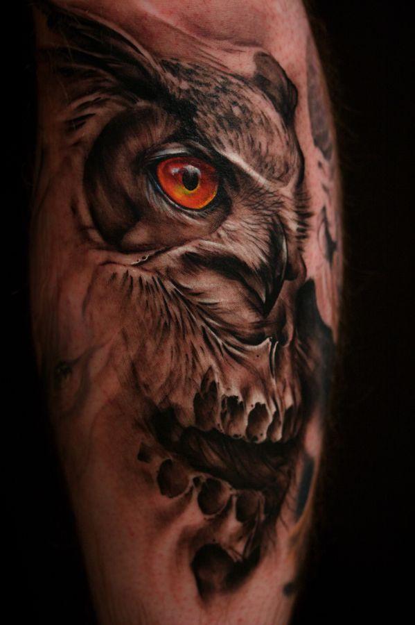 фото татуировка сова