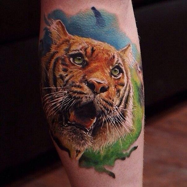 фото татуировки тигр