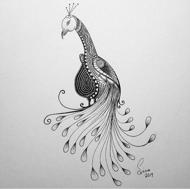 черно быле эскизы татуировки фото животные (7)