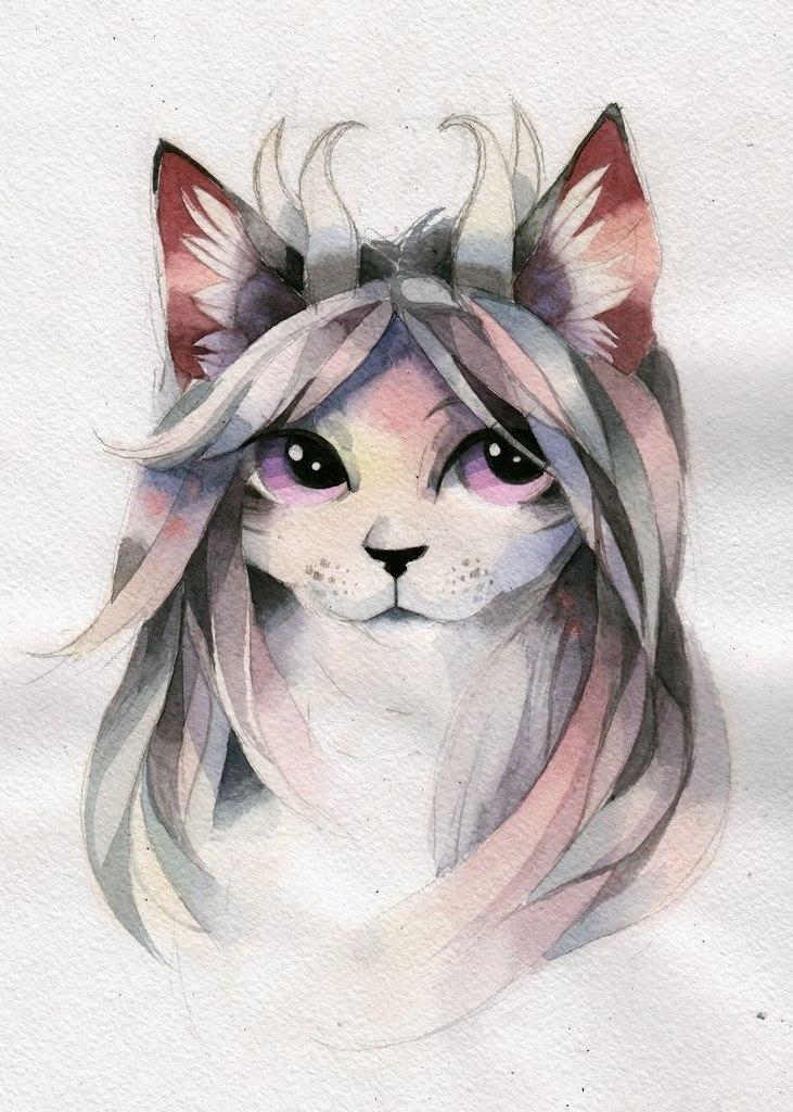 эскиз кот (4)