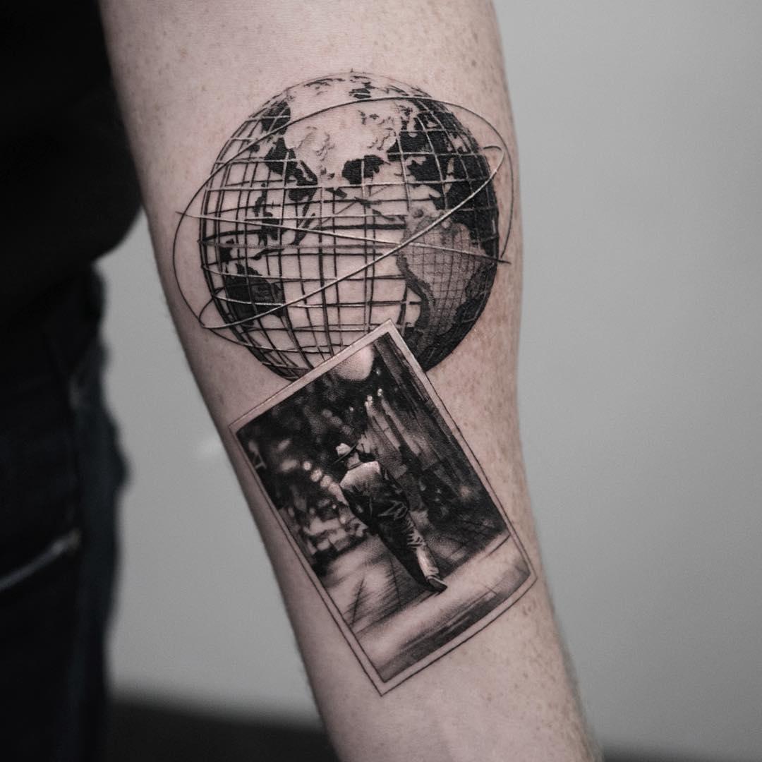 Татуировка глобус