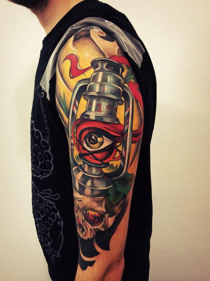 Татуировки свечи, фонари, факелы (7)