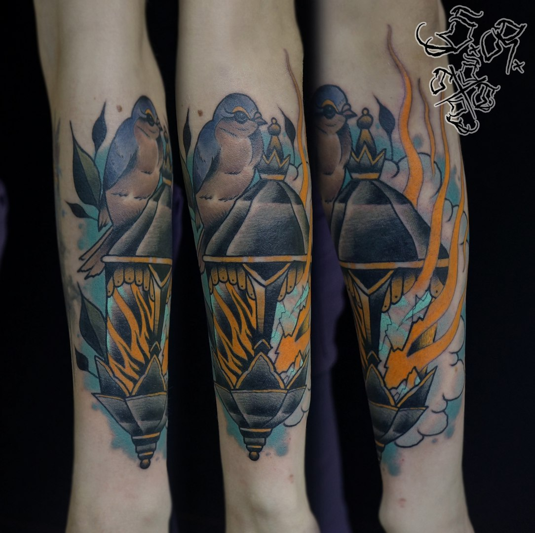 Татуировки свечи, фонари, факелы (4)